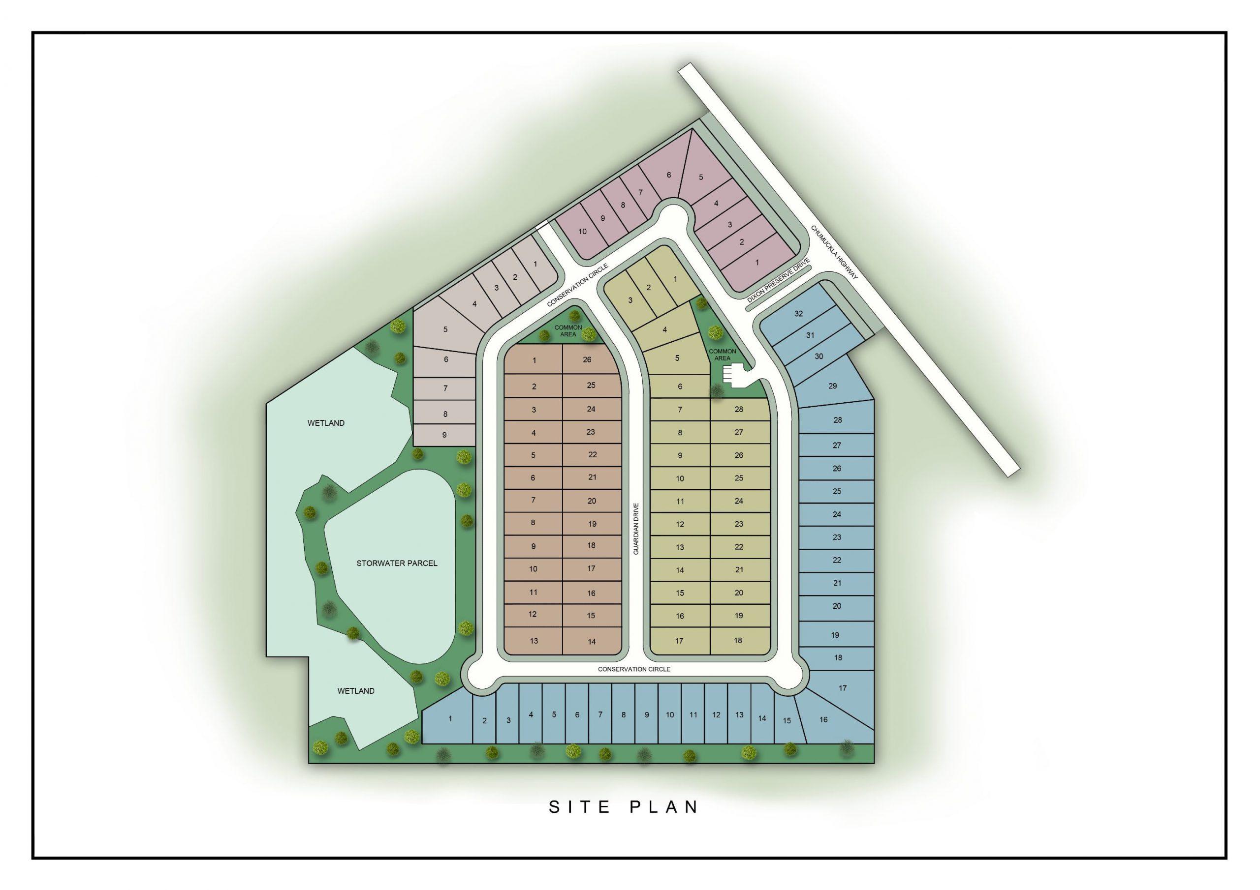 Dixon Preserve Subdivision site plan.