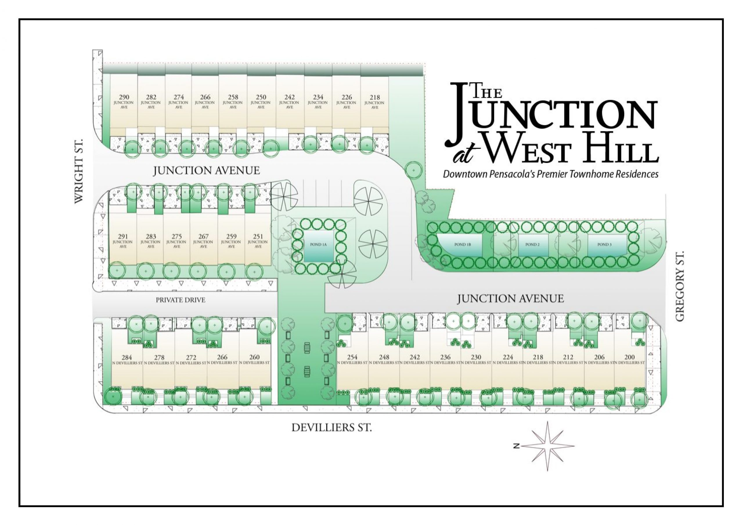Junction at West Hill site plan.