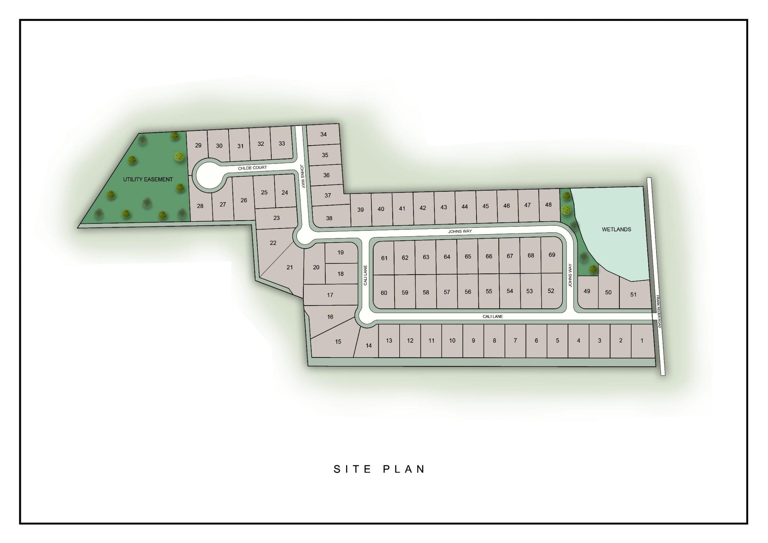 Rock Ridge site plan.