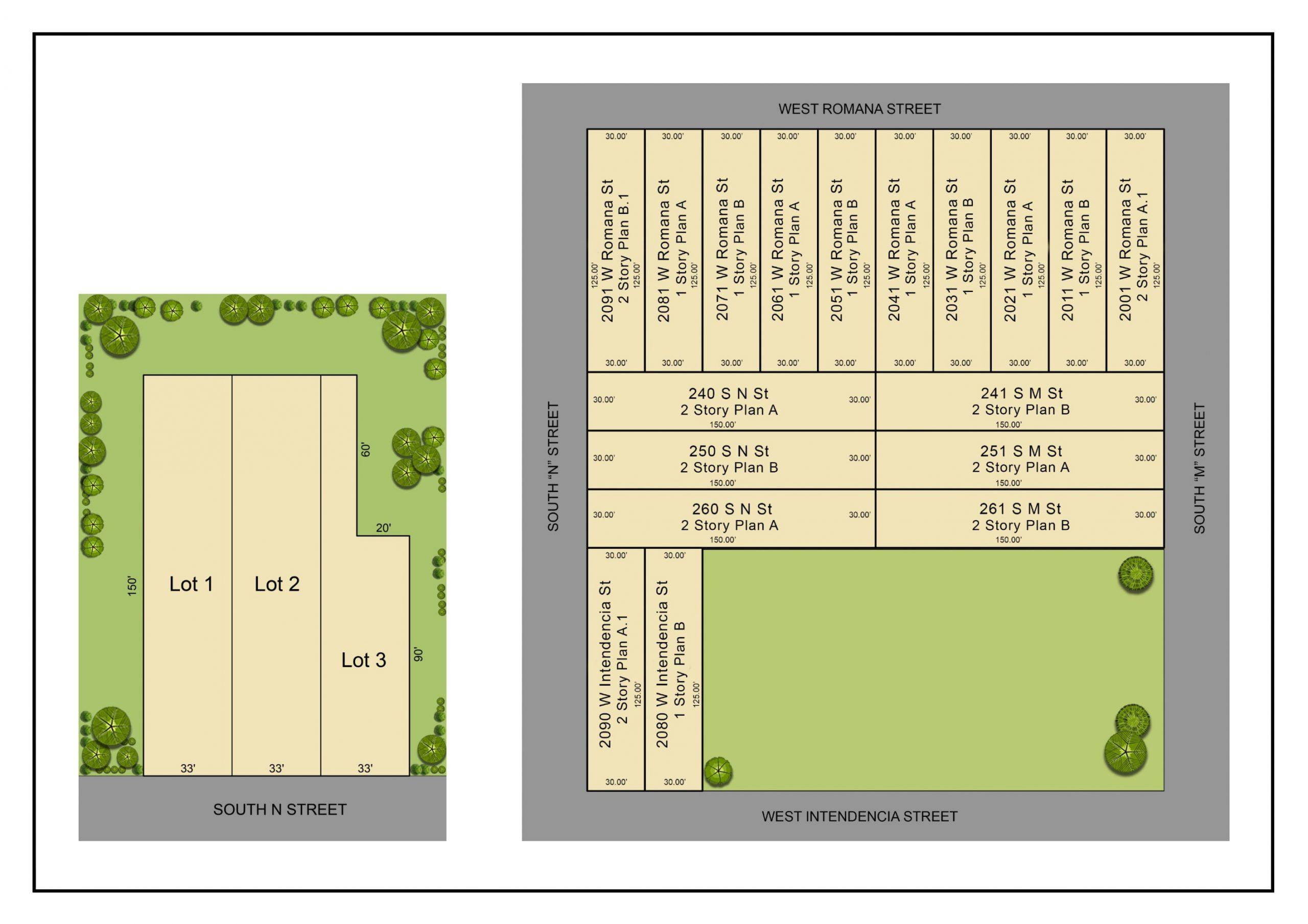 Romana Square site plan.