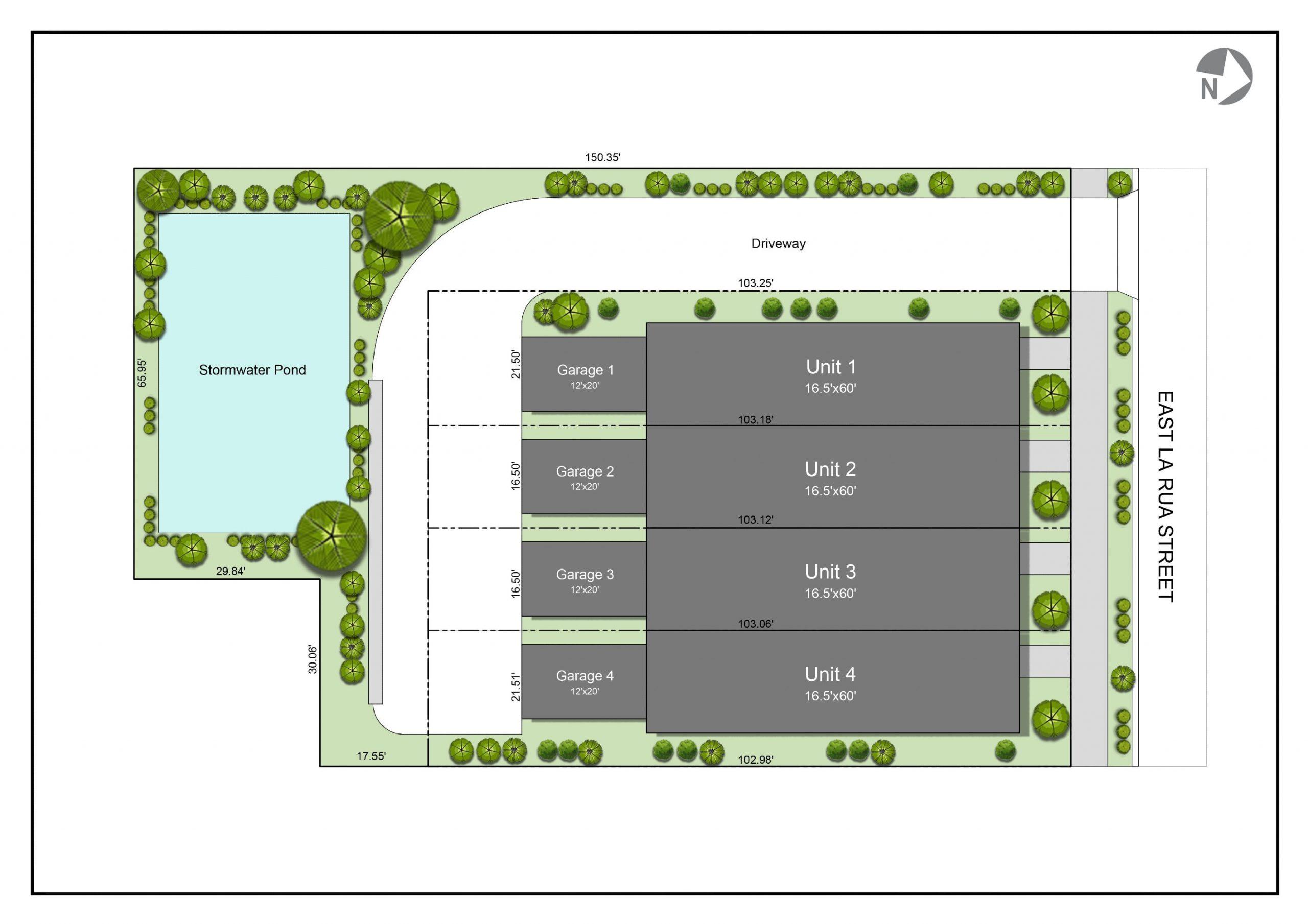 Corte de La Rua site plan.