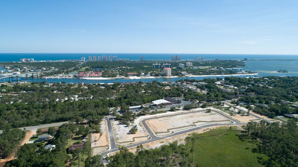 Site development at Redfish Harbor, the latest aDoor development. Waterfront properties, Perdido Key.