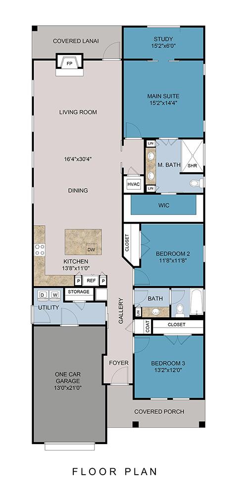 1001 E Cross St C - Floor Plan